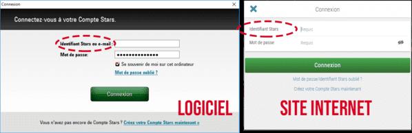 cConnexion à PokerStars depuis le logiciel et depuis le site internet.
