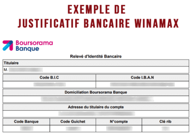 Justificatif bancaire Winamax.