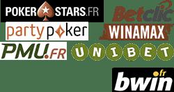 Liste des operateurs de poker.