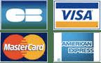 Logo MasterCard et Visa Carte Bleue et American Express