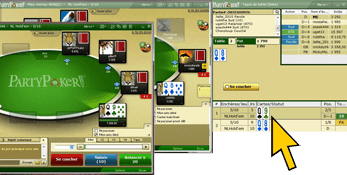 Party Poker outil multitable