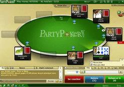 Table de jeu de Party Poker