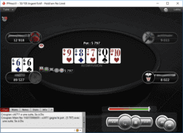 Replayer de la salle de poker en ligne Pokerstars