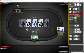 Table de poker en ligne.