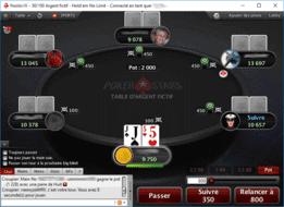table de jeux de poker en ligne Pokerstars