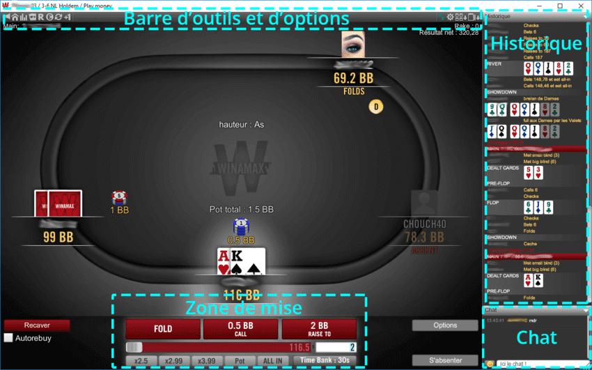 Table Winamax L Espace De La Table De Poker Est Agreable Et Pratique