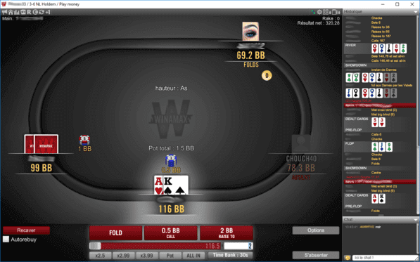 Table Winamax Pour Jouer Au Poker En Ligne Sur Ordinateur Ou Mobile