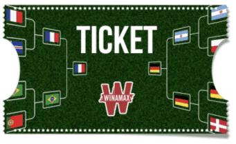 Ticket du tableau de la coupe du monde avec Winamax.