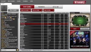 lobby de la salle de poker en ligne agréé arjel winamax poker