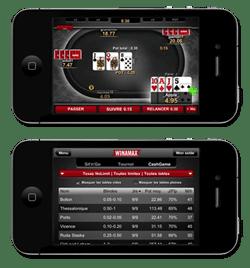 winamax poker est disponible sur Iphone 4 G, en argent virtuel et réel