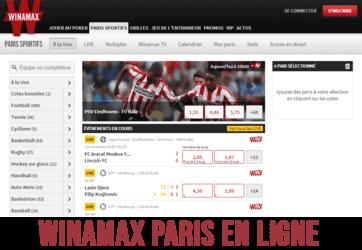 Winamax paris en ligne (site internet).